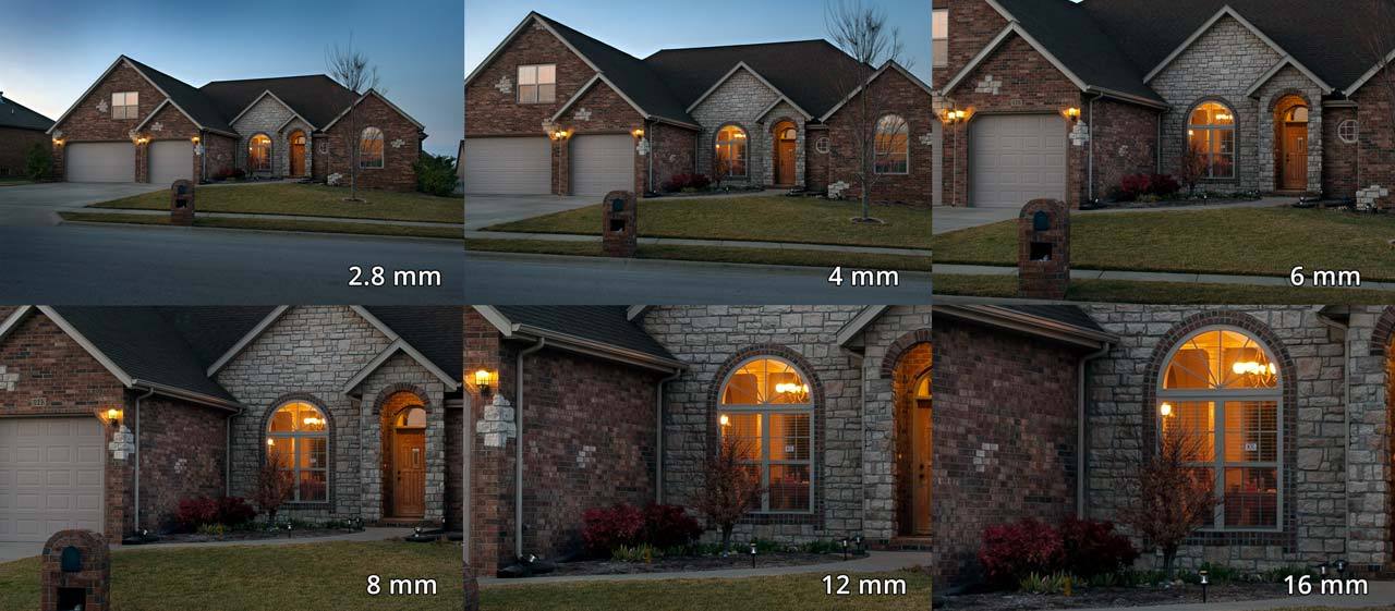 Focal length comparison